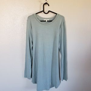 Pure + Good Light Green Long Sleeve Dress